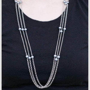 Wicked Wonders VIP Bling Necklace Carry On Silver Necklace Affordable Bling_Bling Fashion Paparazzi