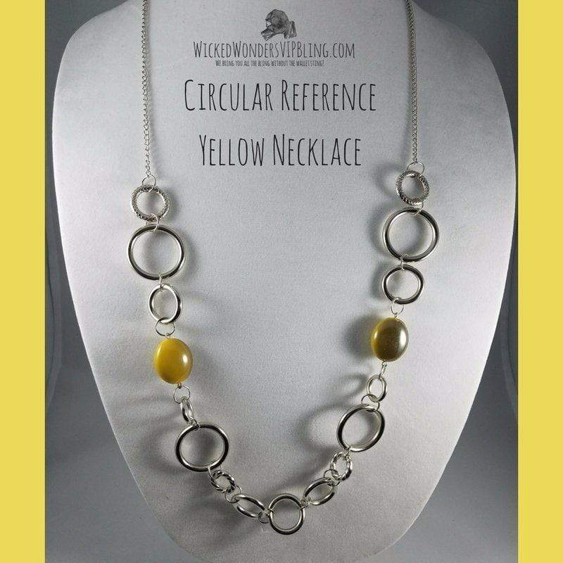 Wicked Wonders VIP Bling Necklace Circular Reference Yellow Necklace Affordable Bling_Bling Fashion Paparazzi