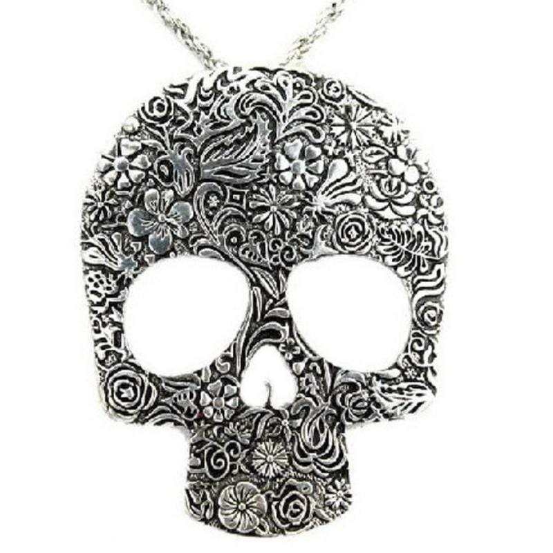 Wicked Wonders VIP Bling Necklace City of Skulls Silver Statement Necklace Affordable Bling_Bling Fashion Paparazzi
