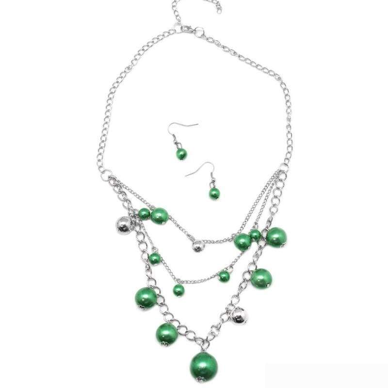 Wicked Wonders VIP Bling Necklace Classically Captivating Green Necklace Affordable Bling_Bling Fashion Paparazzi