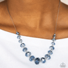 Wicked Wonders VIP Bling Necklace Crystal Carriages Blue Necklace Affordable Bling_Bling Fashion Paparazzi