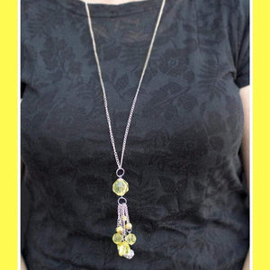 Wicked Wonders VIP Bling Necklace Crystal Collision Yellow Necklace Affordable Bling_Bling Fashion Paparazzi