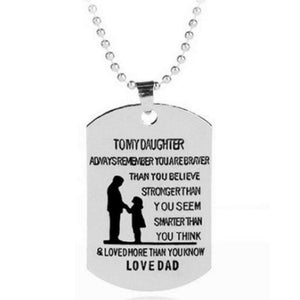 Wicked Wonders VIP Bling Necklace Dad-Daughter Dog Tag Silver Necklace Affordable Bling_Bling Fashion Paparazzi