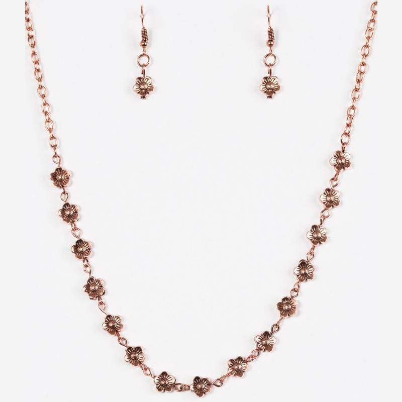 Wicked Wonders VIP Bling Necklace Daisy Do-Si-Do Dainty Copper Necklace Affordable Bling_Bling Fashion Paparazzi