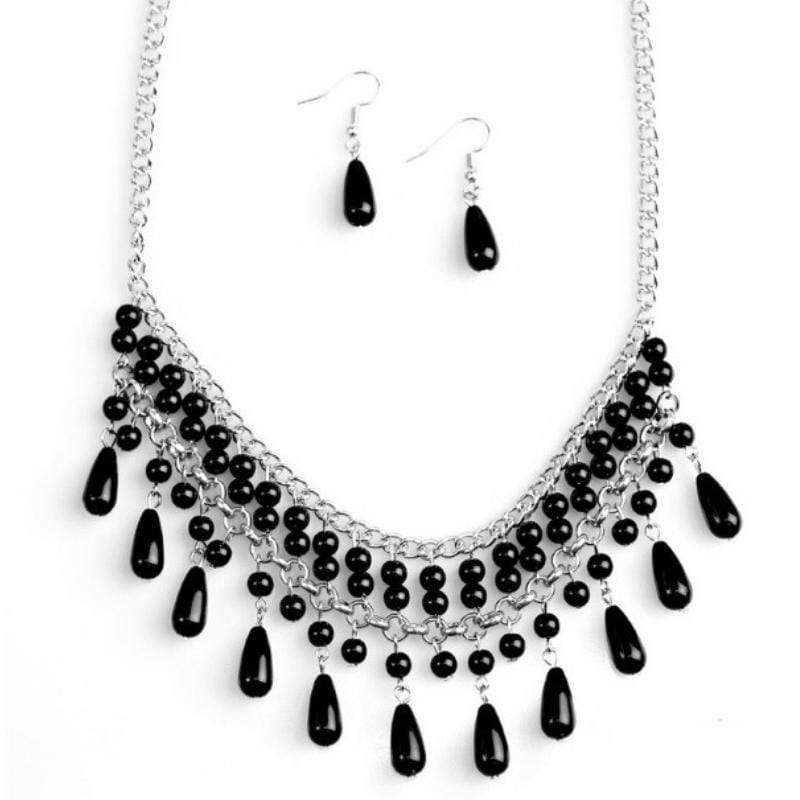Wicked Wonders VIP Bling Necklace Daredevil Black Necklace Affordable Bling_Bling Fashion Paparazzi