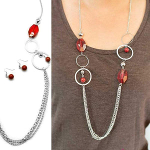 Wicked Wonders VIP Bling Necklace Dazzle Me Red Necklace Affordable Bling_Bling Fashion Paparazzi