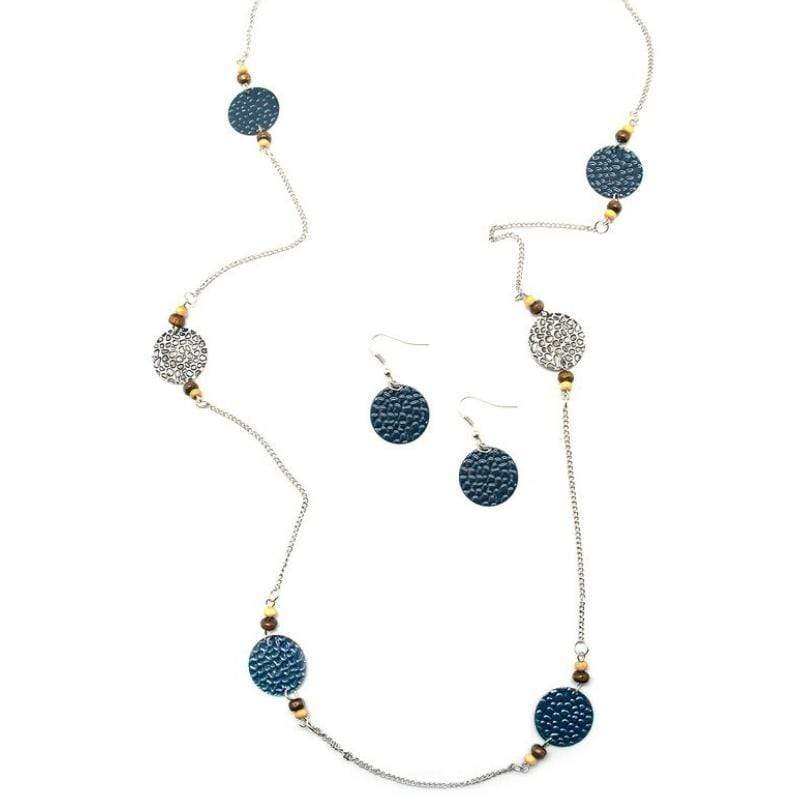 Wicked Wonders VIP Bling Necklace Deep In the Woods Blue Necklace Affordable Bling_Bling Fashion Paparazzi