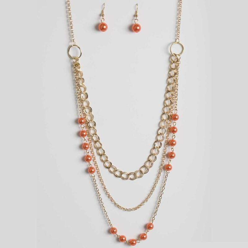 Wicked Wonders VIP Bling Necklace Dream Walking Orange Necklace Affordable Bling_Bling Fashion Paparazzi