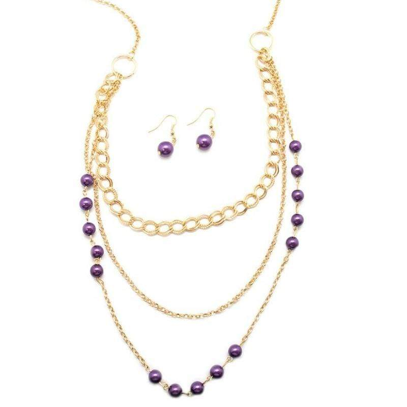 Wicked Wonders VIP Bling Necklace Dream Walking Purple Necklace Affordable Bling_Bling Fashion Paparazzi
