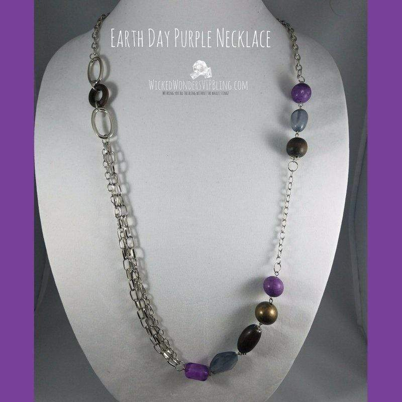 Wicked Wonders VIP Bling Necklace Earth Day Purple Necklace Affordable Bling_Bling Fashion Paparazzi