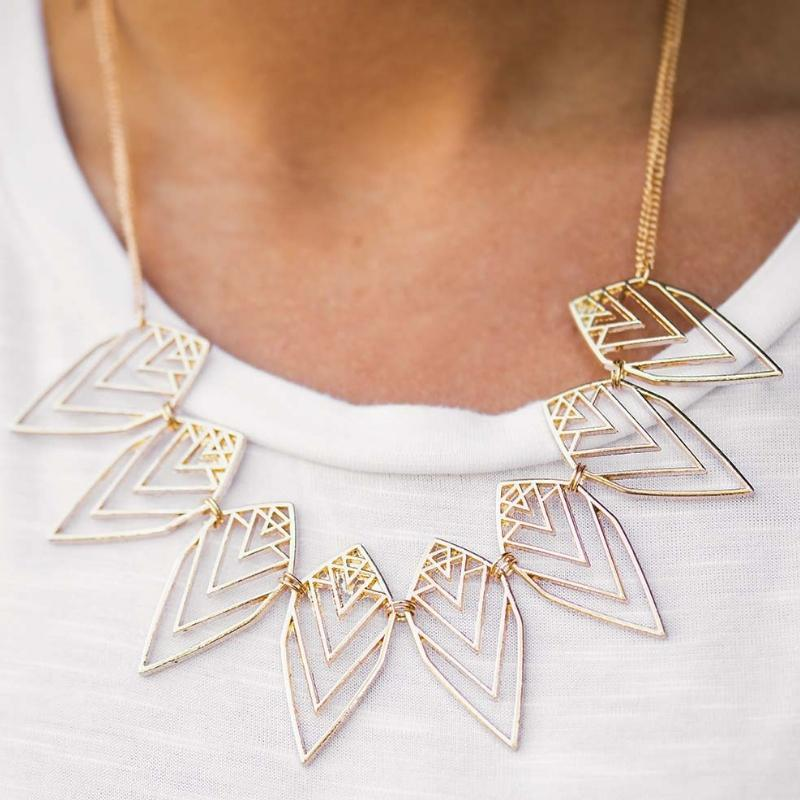 Wicked Wonders VIP Bling Necklace Endangered Species Gold Necklace Affordable Bling_Bling Fashion Paparazzi