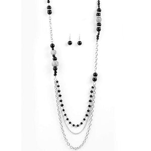 Wicked Wonders VIP Bling Necklace Enmeshed in Elegance Black Necklace Affordable Bling_Bling Fashion Paparazzi