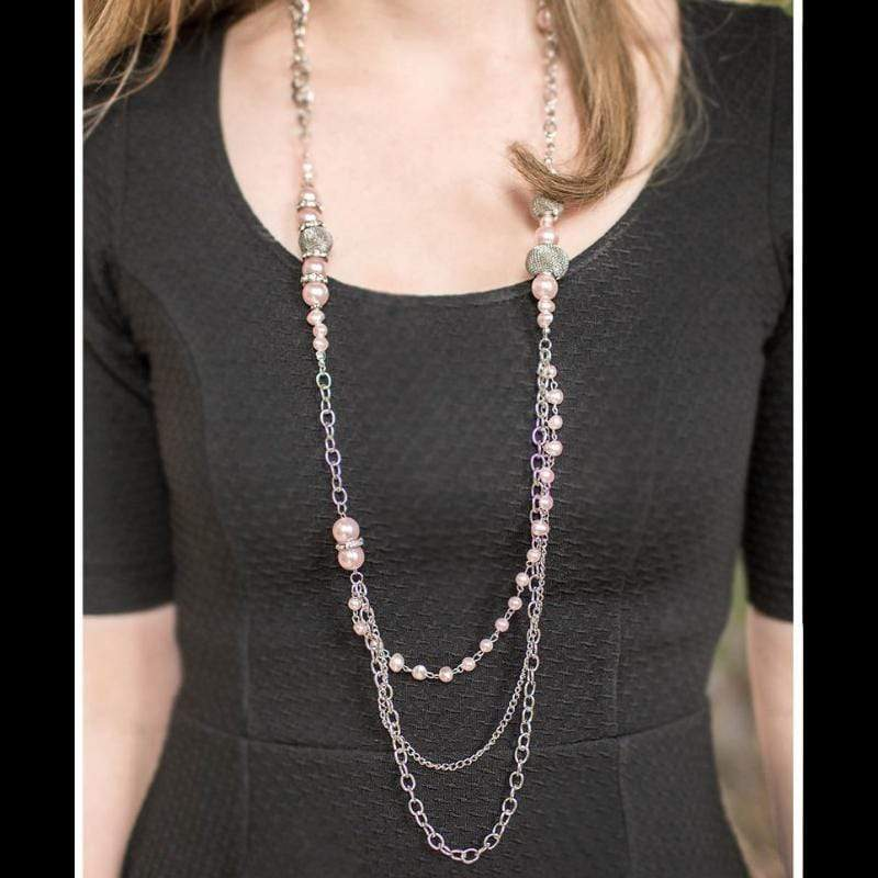 Wicked Wonders VIP Bling Necklace Enmeshed in Elegance Pink Necklace Affordable Bling_Bling Fashion Paparazzi