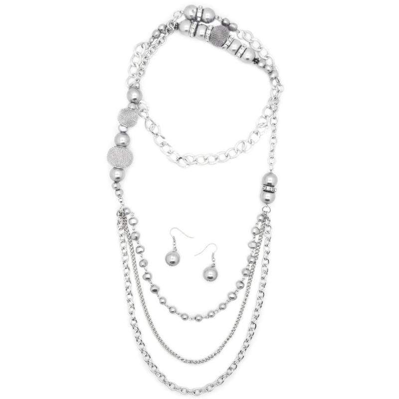 Wicked Wonders VIP Bling Necklace Enmeshed in Elegance Silver Necklace Affordable Bling_Bling Fashion Paparazzi