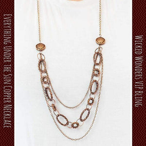 Wicked Wonders VIP Bling Necklace Everything Under the Sun Copper Necklace Affordable Bling_Bling Fashion Paparazzi