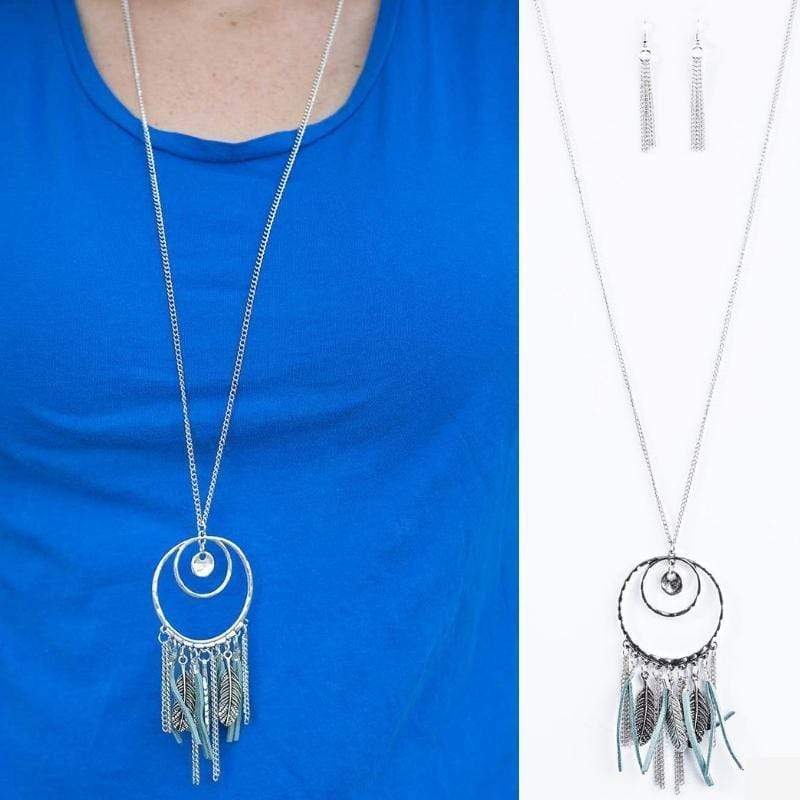 Wicked Wonders VIP Bling Necklace Fearless Dreamer Blue Necklace Affordable Bling_Bling Fashion Paparazzi