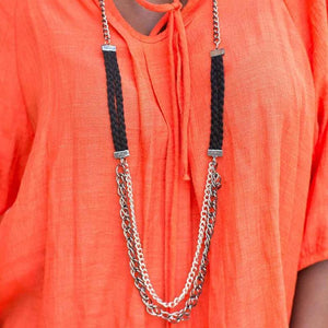 Wicked Wonders VIP Bling Necklace Feeling on Edge Black Necklace Affordable Bling_Bling Fashion Paparazzi