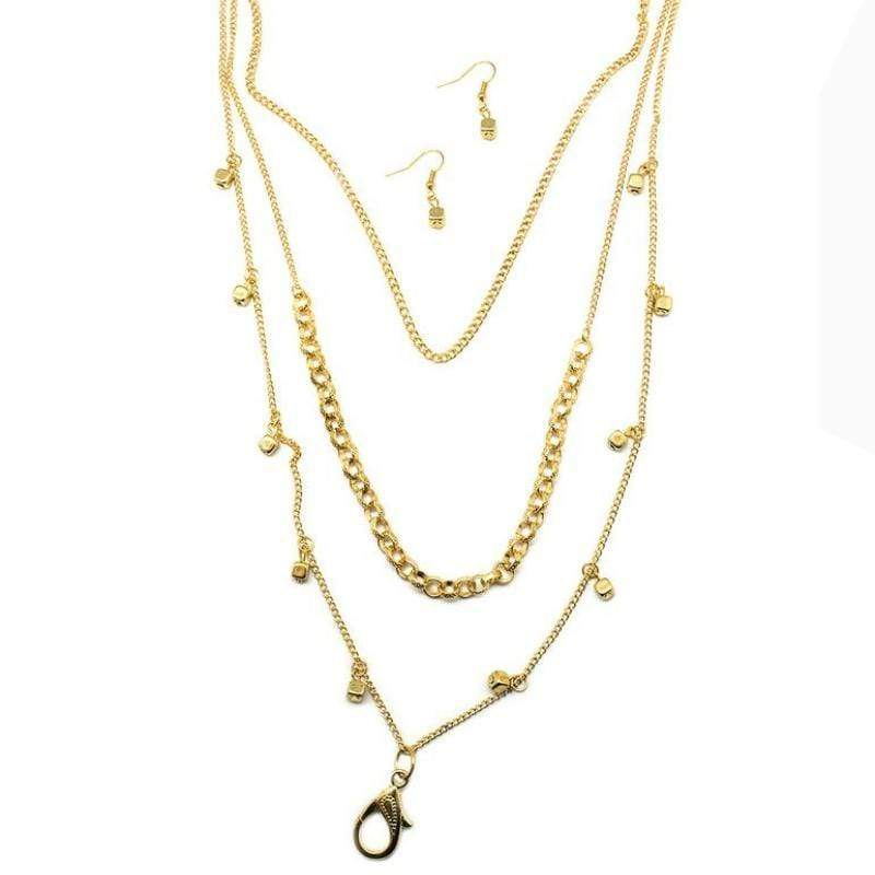 Wicked Wonders VIP Bling Necklace Flash Mob Gold Lanyard Necklace Affordable Bling_Bling Fashion Paparazzi