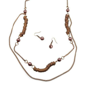 Wicked Wonders VIP Bling Necklace Flirting With the Enemy Copper Necklace Affordable Bling_Bling Fashion Paparazzi