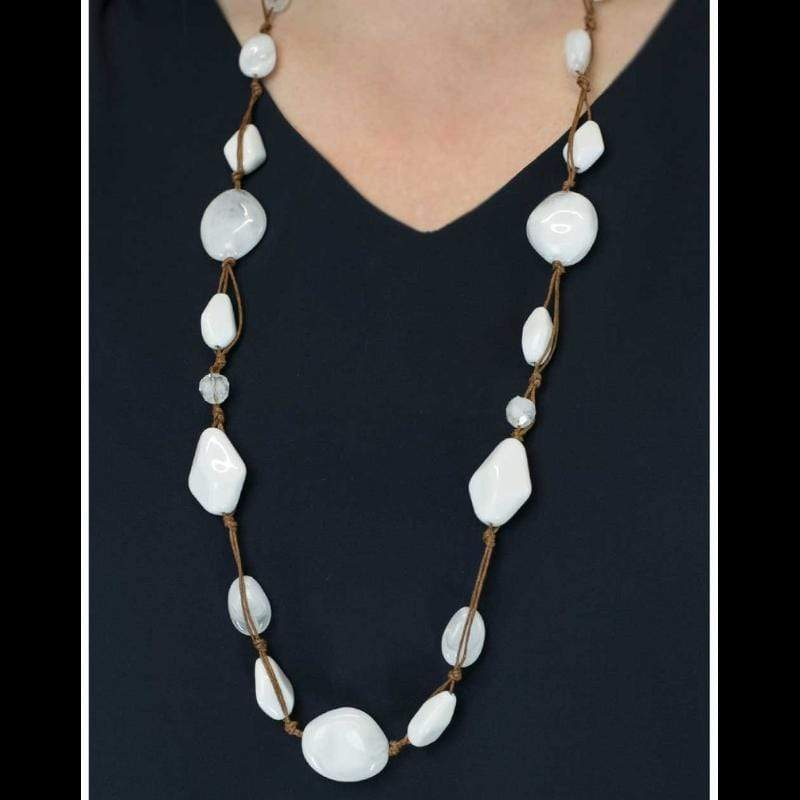 Wicked Wonders VIP Bling Necklace Glam ROCK White Necklace Affordable Bling_Bling Fashion Paparazzi