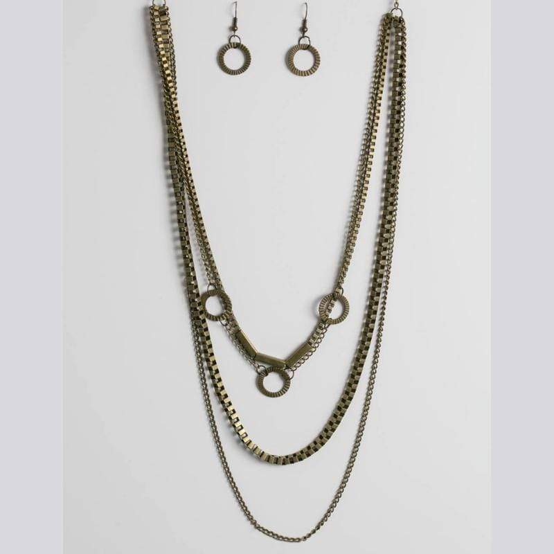 Wicked Wonders VIP Bling Necklace Go Go Gadget Brass Necklace Affordable Bling_Bling Fashion Paparazzi