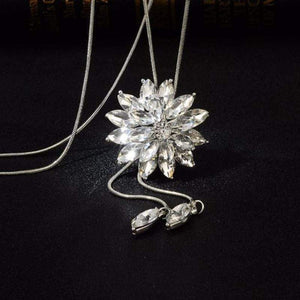 Wicked Wonders VIP Bling Necklace God Given Snowflake Sweater Necklace Affordable Bling_Bling Fashion Paparazzi