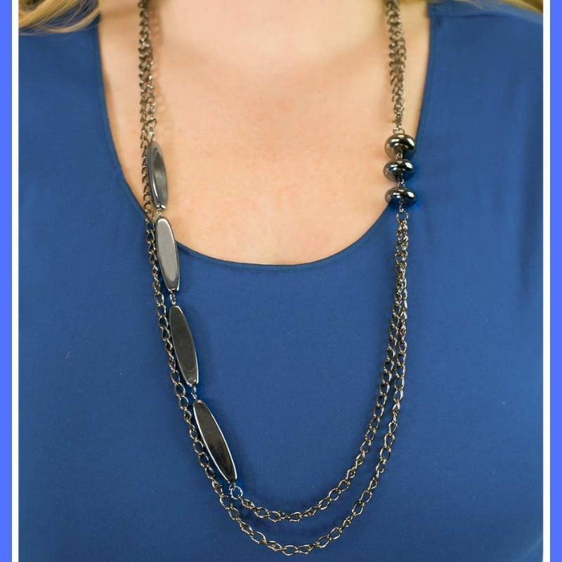Wicked Wonders VIP Bling Necklace Happy As the Day is Long Black Necklace Affordable Bling_Bling Fashion Paparazzi