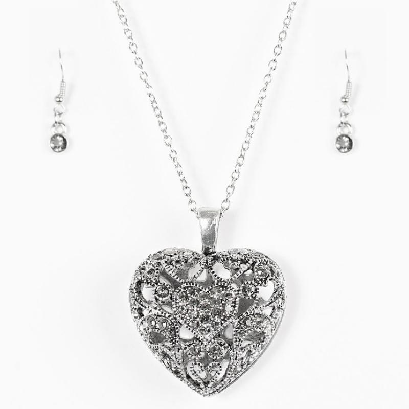 Wicked Wonders VIP Bling Necklace Heartless Heiress Silver Necklace Affordable Bling_Bling Fashion Paparazzi