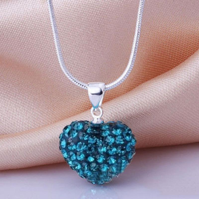 Wicked Wonders VIP Bling Necklace Hearts on Fire Blue Rhinestone Necklace Affordable Bling_Bling Fashion Paparazzi
