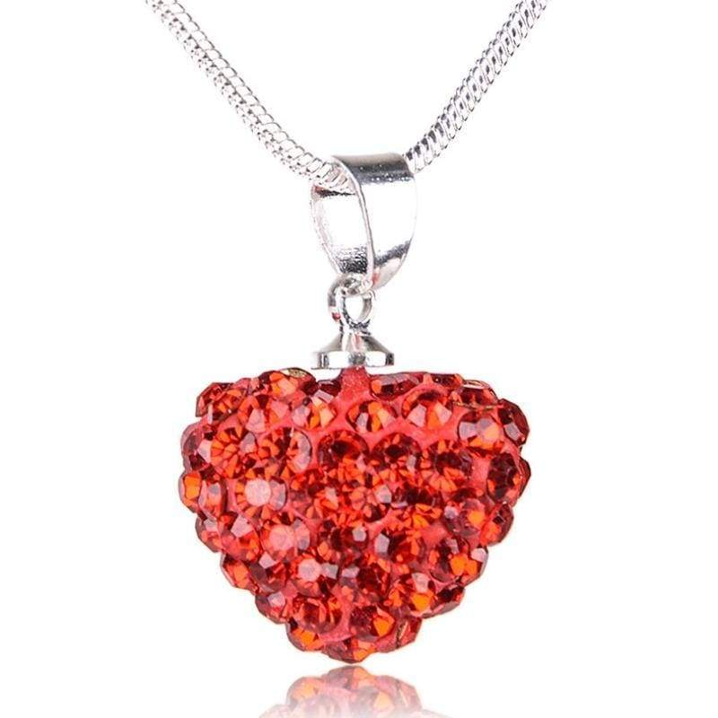 Wicked Wonders VIP Bling Necklace Hearts on Fire Red Rhinestone Necklace Affordable Bling_Bling Fashion Paparazzi