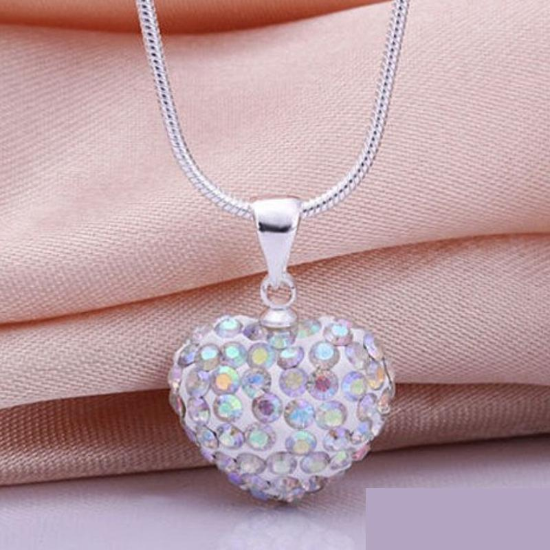 Wicked Wonders VIP Bling Necklace Hearts on Fire White Multi Rhinestone Necklace Affordable Bling_Bling Fashion Paparazzi
