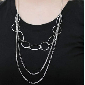 Wicked Wonders VIP Bling Necklace Here We Go Again Silver Necklace Affordable Bling_Bling Fashion Paparazzi