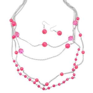 Wicked Wonders VIP Bling Necklace Imperfect Imperfections Pink Necklace Affordable Bling_Bling Fashion Paparazzi