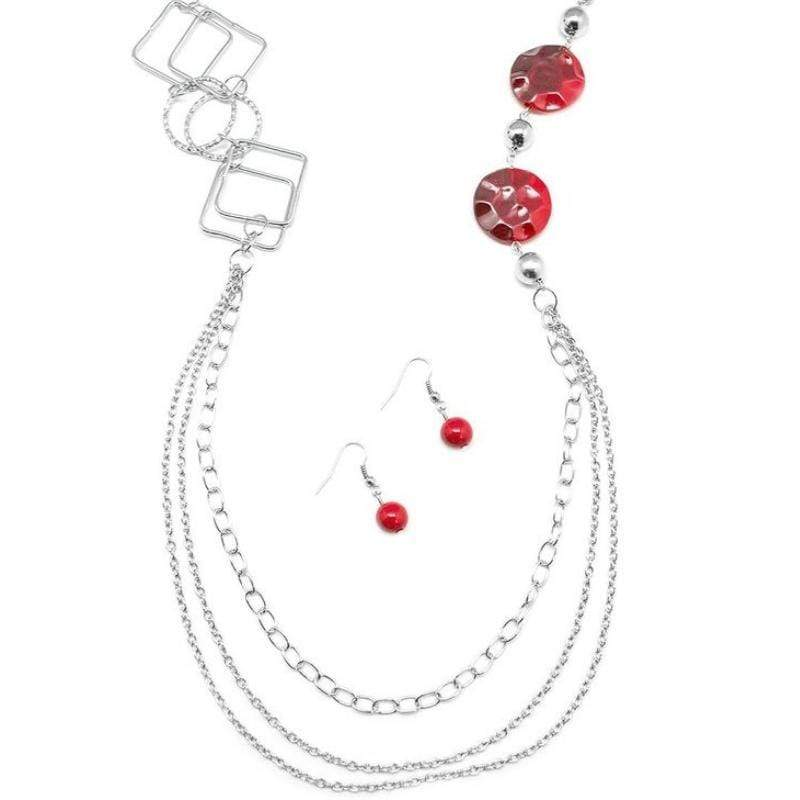 Wicked Wonders VIP Bling Necklace In Anticipation Red Necklace Affordable Bling_Bling Fashion Paparazzi