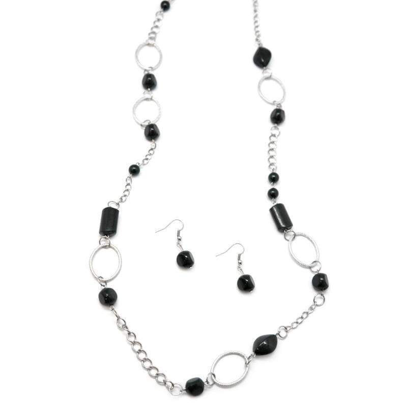 Wicked Wonders VIP Bling Necklace In Neutral Black Necklace Affordable Bling_Bling Fashion Paparazzi