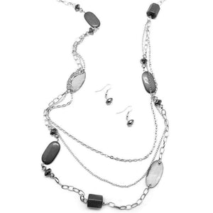 Wicked Wonders VIP Bling Necklace Jubilee of Beads Silver Necklace Affordable Bling_Bling Fashion Paparazzi