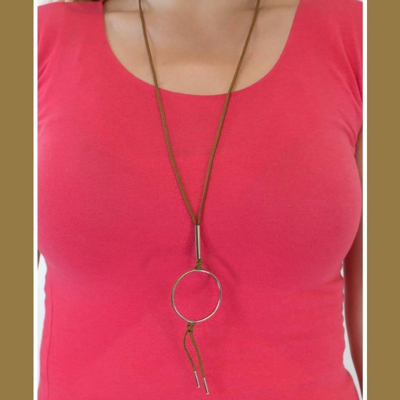 Wicked Wonders VIP Bling Necklace Jumping Through Hoops Brown Urban Necklace Affordable Bling_Bling Fashion Paparazzi