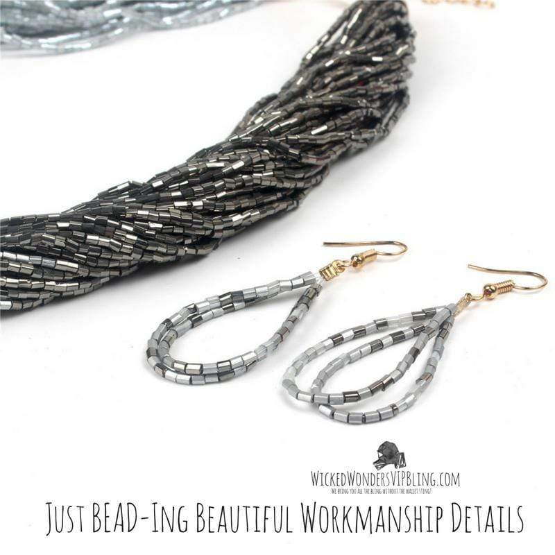 Wicked Wonders VIP Bling Necklace Just BEAD-ing Beautiful Black Seed Bead Necklace Affordable Bling_Bling Fashion Paparazzi