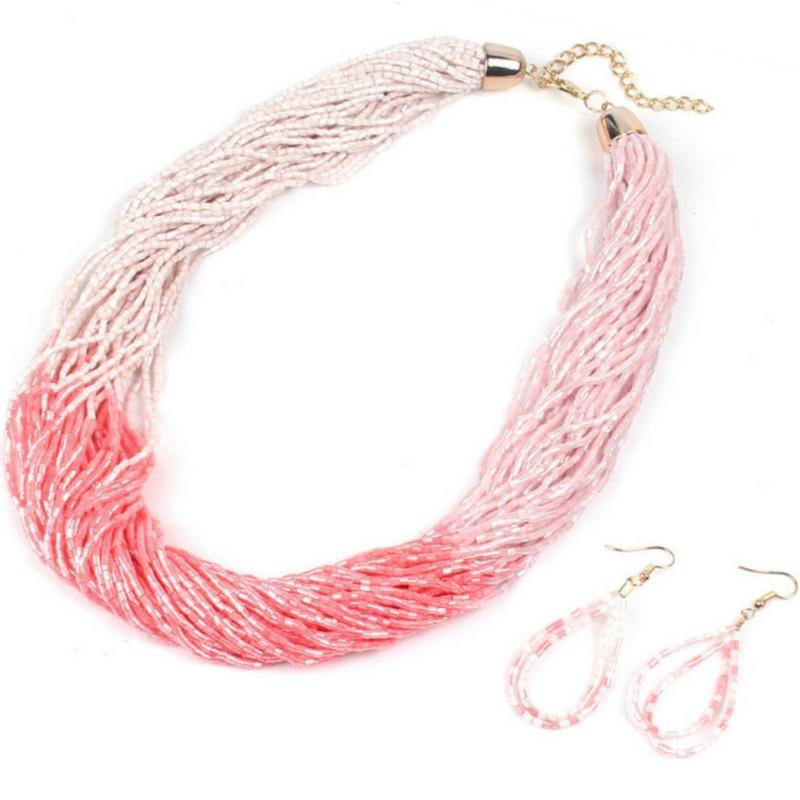 Wicked Wonders VIP Bling Necklace Just BEAD-ing Beautiful Pink Seed Bead Necklace Affordable Bling_Bling Fashion Paparazzi