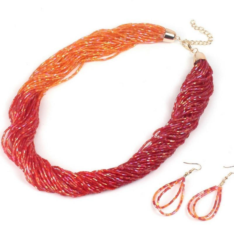 Wicked Wonders VIP Bling Necklace Just BEAD-ing Beautiful Red-Orange Seed Bead Necklace Affordable Bling_Bling Fashion Paparazzi