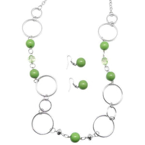 Wicked Wonders VIP Bling Necklace Keeping Up With the Jonses Green Necklace Affordable Bling_Bling Fashion Paparazzi
