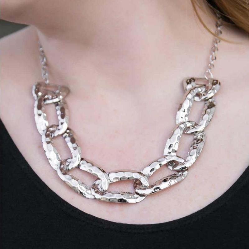Wicked Wonders VIP Bling Necklace La Vida Loca Silver Necklace Affordable Bling_Bling Fashion Paparazzi