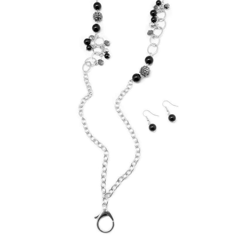 Wicked Wonders VIP Bling Necklace Lady of the House Black Lanyard Necklace Affordable Bling_Bling Fashion Paparazzi