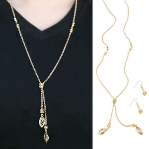 Wicked Wonders VIP Bling Necklace LEAF It Be Gold Necklace Affordable Bling_Bling Fashion Paparazzi