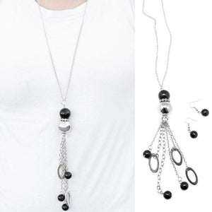 Wicked Wonders VIP Bling Necklace Leave Them Wanting More Black Necklace Affordable Bling_Bling Fashion Paparazzi