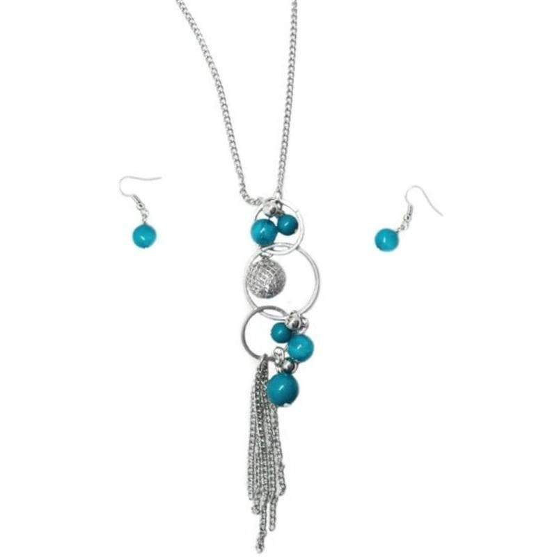 Wicked Wonders VIP Bling Necklace Love Poem Blue Necklace Affordable Bling_Bling Fashion Paparazzi