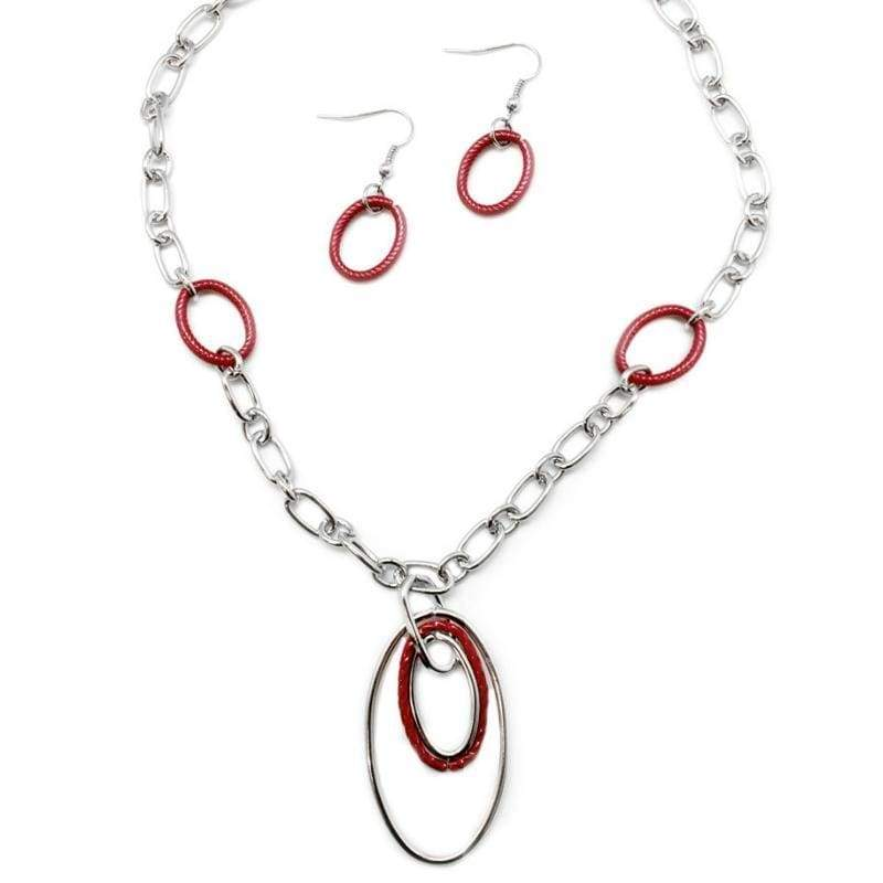 Wicked Wonders VIP Bling Necklace Low and Behold Red Necklace Affordable Bling_Bling Fashion Paparazzi