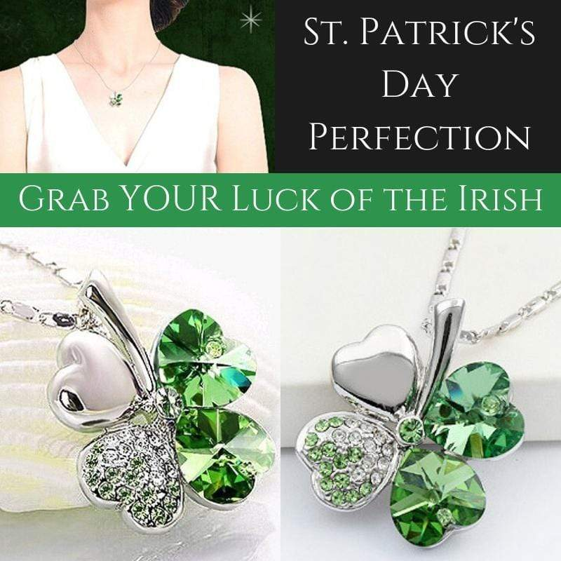 Wicked Wonders VIP Bling Necklace Luck of the Irish Green Necklace Affordable Bling_Bling Fashion Paparazzi