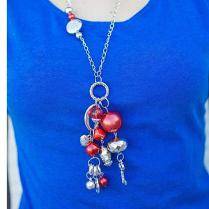 Wicked Wonders VIP Bling Necklace Make a Wish Red Necklace Affordable Bling_Bling Fashion Paparazzi