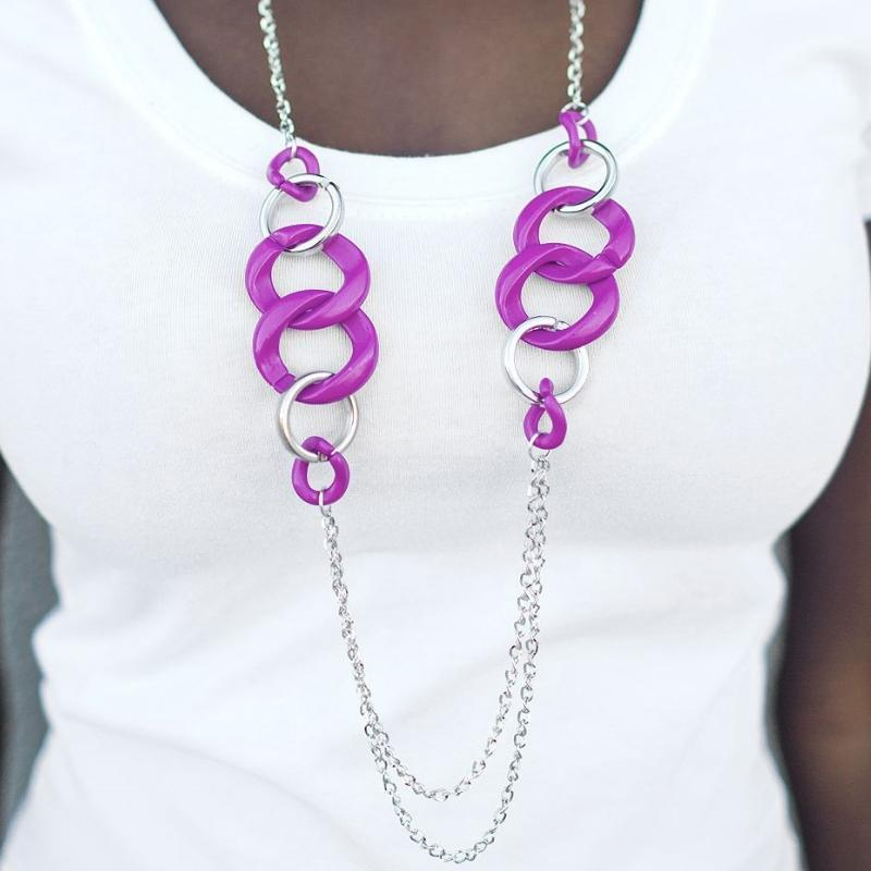 Wicked Wonders VIP Bling Necklace Making Dreams Come True Purple Necklace Affordable Bling_Bling Fashion Paparazzi